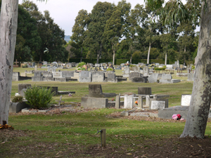 A general view of the Upper Yarra Public Cemetry